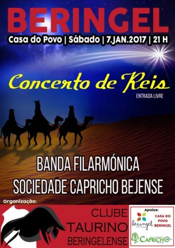 Clube Taurino Beringelense organiza concerto de Reis