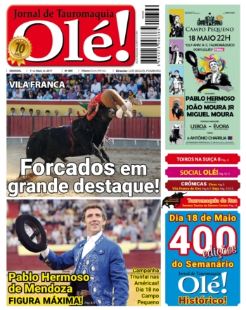 Jornal Olé 399, hoje nas bancas