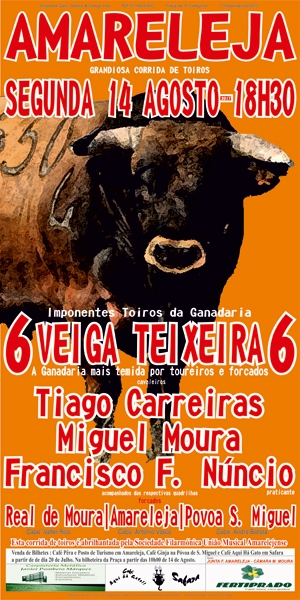Veiga Teixeira em Amareleja, dia 14 de agosto