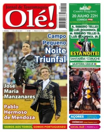 Jornal Olé! 409, hoje nas bancas